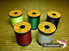 5 x SPOOLS 6/0 UNI THREAD COLOUR SELECTION 2  NEW FLY TYING SUPPLIES & MATERIALS