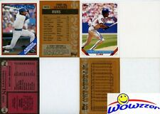 Rare Lot of (14) Different Topps Andre Dawson ERROR CARDS from 1987-1992
