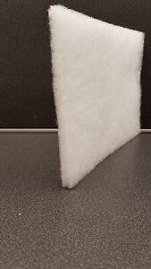 Filtermatte für Lüftungsanlagen G3/F1  1mx10m, Dicke 11mm, weiß 150g/m2