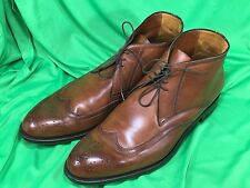 A. Testoni Shoes Mens Brown Dress Wing Tip Chukka Ankle Boots UK 10 G Italy 035