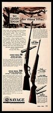 1953 SAVAGE Model 99 Lever-Action & 340 Repeater Rifle AD