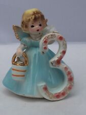 Josef Originals Birthday Angel Ceramic Figurine Girl Age 3 w/Tag gold wings back