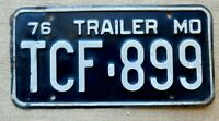 American number plate licence plate license Missouri vintage man cave USA old