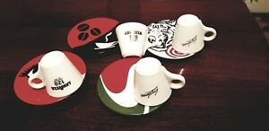 Lavazza 120th anniversary Espresso cups with saucers - four in a lot