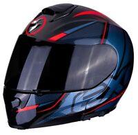 Casco Moto Modulare Scorpion Exo 3000 AIR Creed 2RD Nero Blu Rosso taglia L