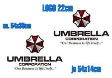 Resident Evil Umbrella Corporation Sticker Auto Aufkleber SET Car schwarz 55cm