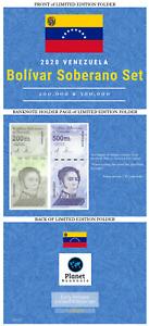 PRE-SALE 2020 Venezuela Bolivares Set $200,000 & $500,000 New Unc Just Released