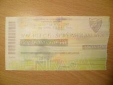 Billete 31 de agosto de 2000-Málaga CF V SV Werder Bremen