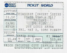 The Firm Used Concert Ticket / Detroit Joe Louis Arena : May 2, 1986 !