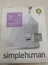simplehuman Custom Fit Trash Can Liner G 30Gal, 50-Count Box