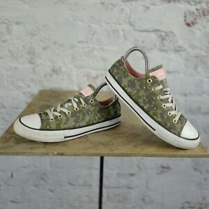 Converse Chuck Taylor All Star Ox Canvas Trainers Green/White  Size uk 4