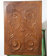Scroll leaves decorative carving panel Antique French Architectural salvage