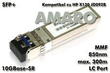 HP X130 JD092B komp SFP+ 10G SR LC 850nm 300m MMF Transceiver