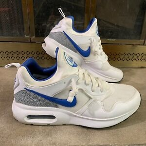 Nike Air Max Prime Running Shoes White Blue Grey Mens Size 10 876068-101 Swoosh