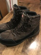 Mens Brown SWISS GEAR Lace-Up Boots Size 13, Leather Upper  Made in China.