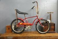 1970s HUFFY The Spoiler BANANA SEAT MUSCLE BIKE WHEEL RAIL Dragster Vintage red