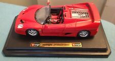BURAGO FERRARI F50 CONVERTIBLE(1995) MADE IN ITALY SCALE 1/24 DIECAST WITH STAND