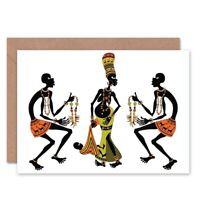 African Jewlery Clothing Blank Greeting Card With Envelope