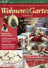 Wohnen & Garten Dezember 2015  Thema Weihnachten incl.10 Geschenkanhänger