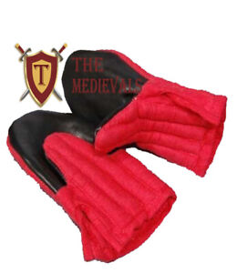 Medieval GLOVES Knight Armor costumes Gambeson Cotton LARP Renaissance