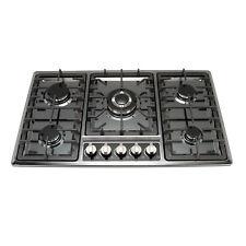 "34"" Black Titanium Stainless Steel Built-in 5 Burner Stoves Gas Hob Cooktops"