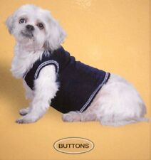 THE BUTTONS CABLE KNIT SWEATER VEST COMPANION ROAD PET FASHIONS DOG X SMALL NOS