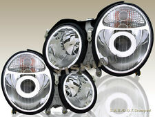 00 01 02 BENZ E-CLASS W210 E320 E430 CHROME CLEAR PROJECTOR HEADLIGHTS NEW