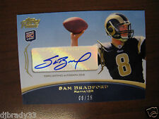 2010 SAM BRADFORD ROOKIE TOPPS PRIME 8/25 AUTOGRAPHED JERSEY NUMBER! 1/1