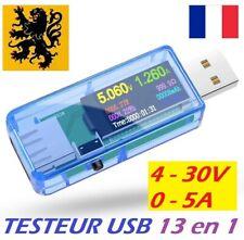 ✅ Testeur USB Multimètre 5V 5A ⚡️Volt Ampère Watts Chargeur Digital LED 📟 13en1