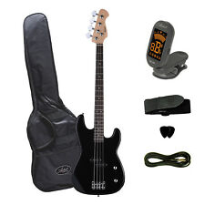 Artist Pb2 Black Electric Bass Guitar With Accessories -