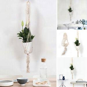Macrame Plant Hanger Flower Pot Holder Wall Hanging Rope Art Garden Room Decor