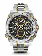 New Bulova 98B228 Precisionist Chronograph Two Tone Stainless 300M Men's Watch