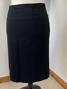 """Pure Collection Women Skirt Size 14 Fits Small 12 32"""" Waist Short Lined Wool"""