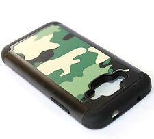 For Samsung Galaxy CORE Prime G360 - CAMO GREEN ARMY ARMOR HIGH IMPACT CASE SKIN
