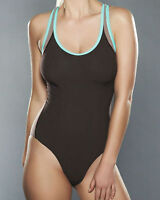 Freya Active Soft Cup Racer Back Sport Swimsuit 3182 Mocha New Swimming Costume