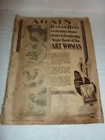 Antique 1933 Tarzan Newspaper Comic Scrapbook made of National Bella Catalog