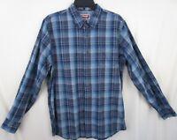 Wrangler Women's Button Down Long Sleeve Shirt Plaid Size Medium