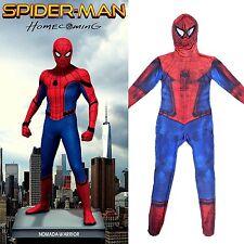 Children New Spiderman Homecoming Cosplay Costume Superhero Jumpsuit Halloween