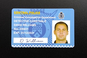 Line of Duty Novelty Personalised Police ID Card Badge TV Prop AC12 Role Play