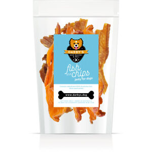 Darby's Dog Bakery & Deli Fish & Chips seafood, vegetable chew dog treats 100g