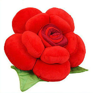 25CM Rose shaped cushion RED best decoration in living room  Valentine's Day