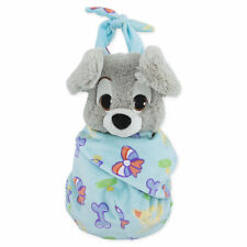 DISNEY PARKS DISNEY BABIES SCAMP PLUSH WITH BLANKET POUCH SELF-STICK FASTENER