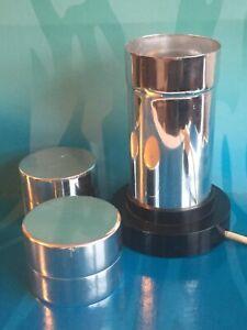 Crestworth Mathmos Glitterlite Lava Lamp Base & 2 Tops Vintage 1960's / 1970's