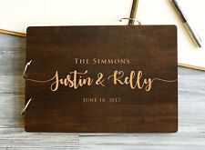 Wedding Guest Book Rustic Guestbook Custom Wood Wedding Album Gift for Couple