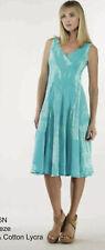 LUNA LUZ Sz S Small Red Cotton Stretch Sleeveless Dress