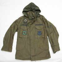 Vintage US Air Force USAF TAC airlift Flight Bomber Military field Jacket small