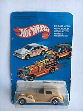 Hot Wheels '35 Classic Caddy #3252 Unpunched  Package 1981 Tan  w/ Protecto Pk