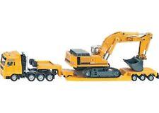 SIKU Haulage Transporter Truck & Trailer Excavator 1:87 Scale Vehicle Model NEW