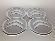 Set di 4 Clip 60mm faccia CITROEN 58mm CERCHI IN LEGA CENTER CAPS Set Argento