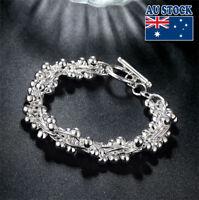 WholeSale 925 Sterling Silver Filled Lovely Beads Ball Bracelet